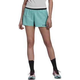 adidas TERREX Primeblue Trail Shorts Women acid mint